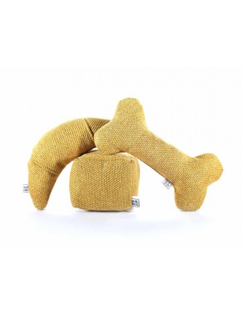 Wooldog Chewy Toys set in Mustard