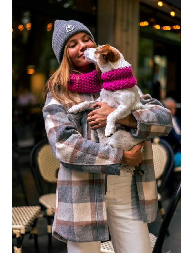 Wooldog Matching Cowls   FUCHSIA